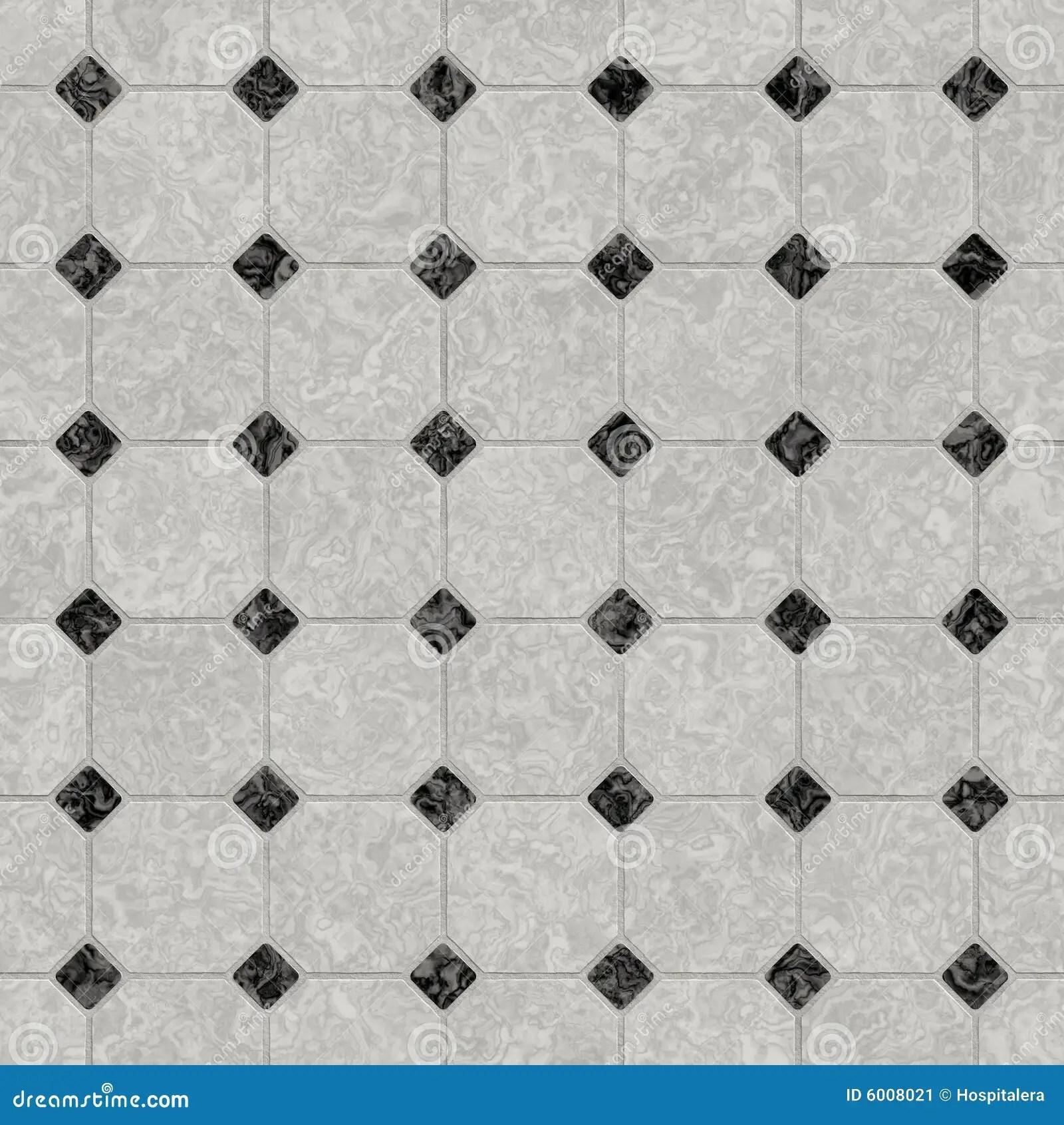 Elegant Black And White Marble Floor Stock Illustration