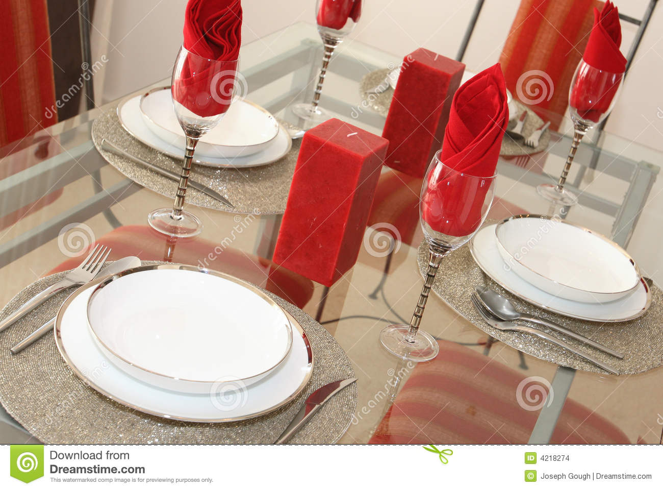 Elegant Dining Table Setting Stock Photo Image 4218274