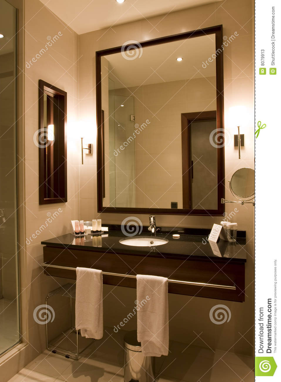 Elegant Hotel Or Apartment Bathroom Stock Image Image Of