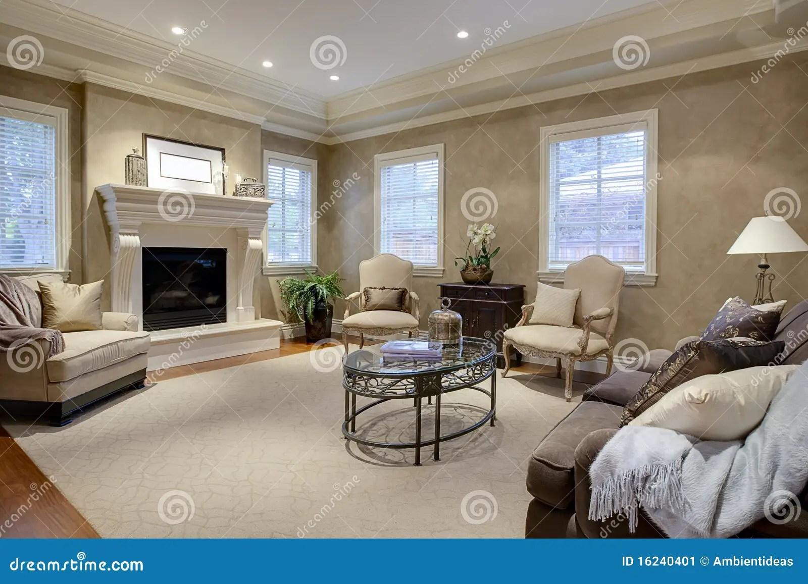 Elegant Living Room Lounge Stock Image Image 16240401