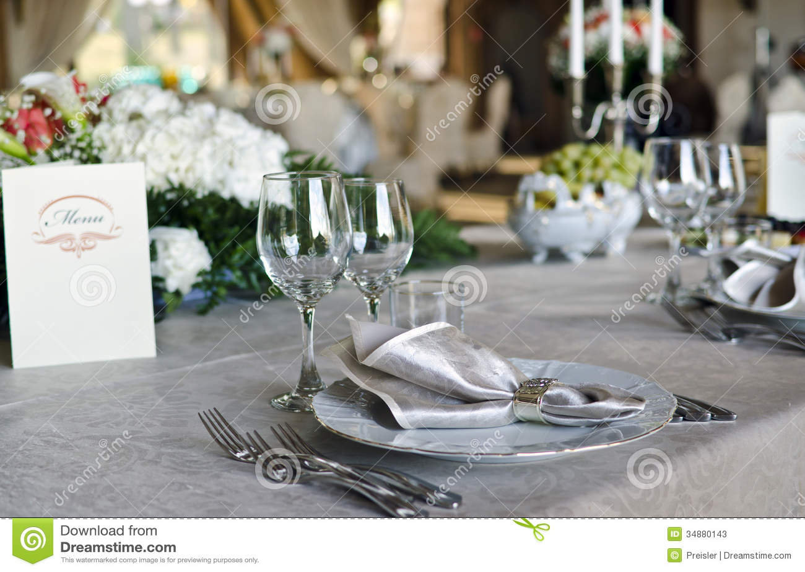 Elegant Table Setting Stock Image Image Of Dine Decor