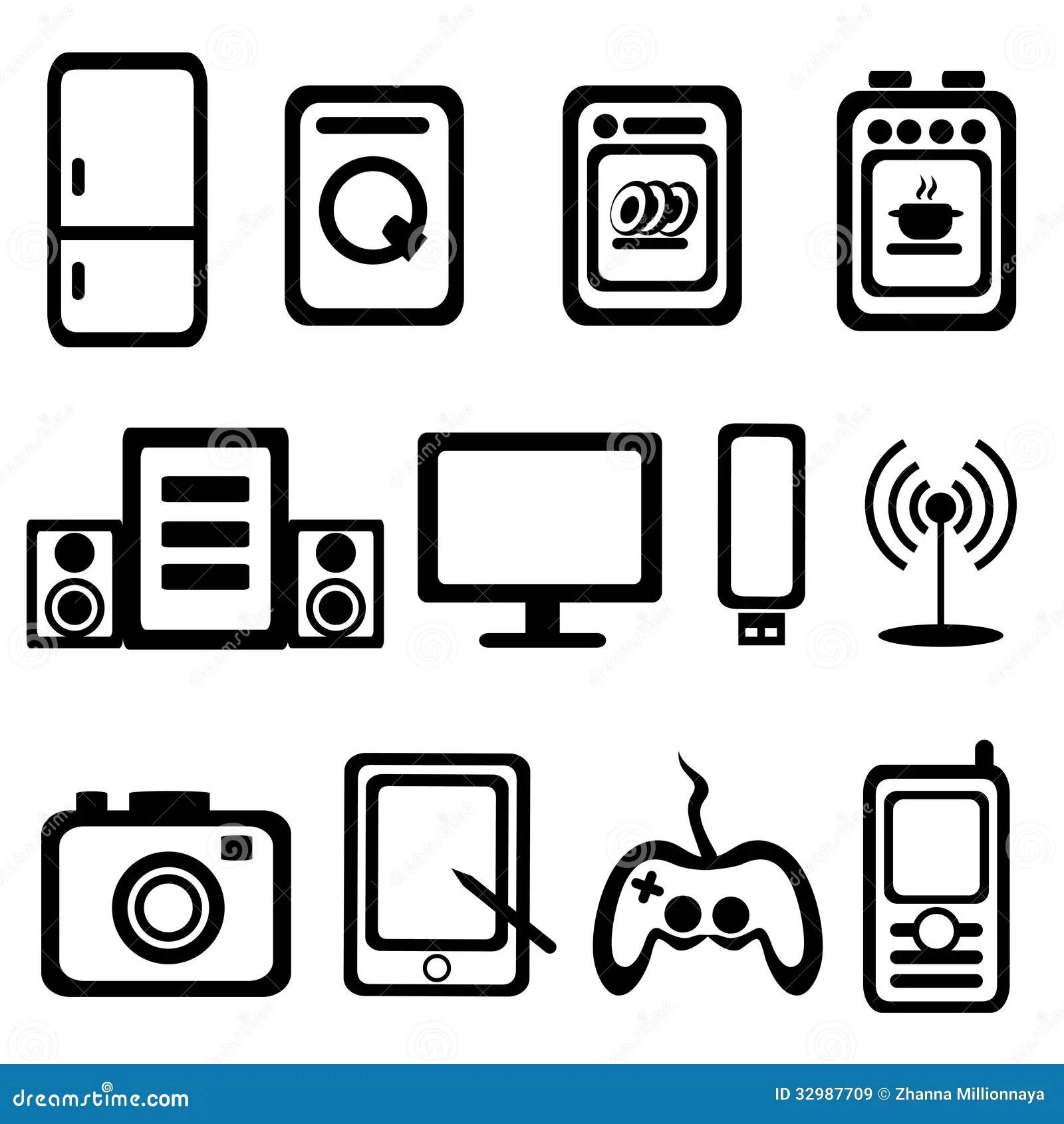 Elektrische Warenikonen Vektor Abbildung Illustration Von