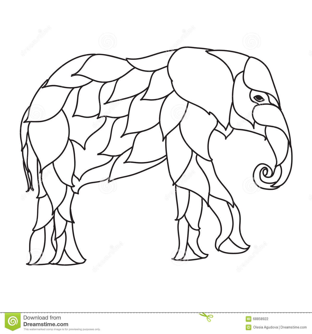 Elephant Zentangle Coloring Pages Coloring Pages