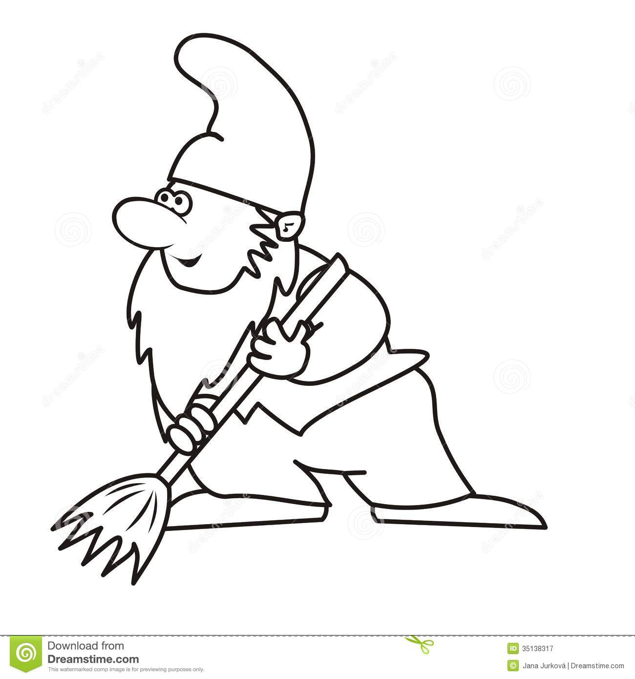 Elf And Brush Coloring Royalty Free Stock Photography