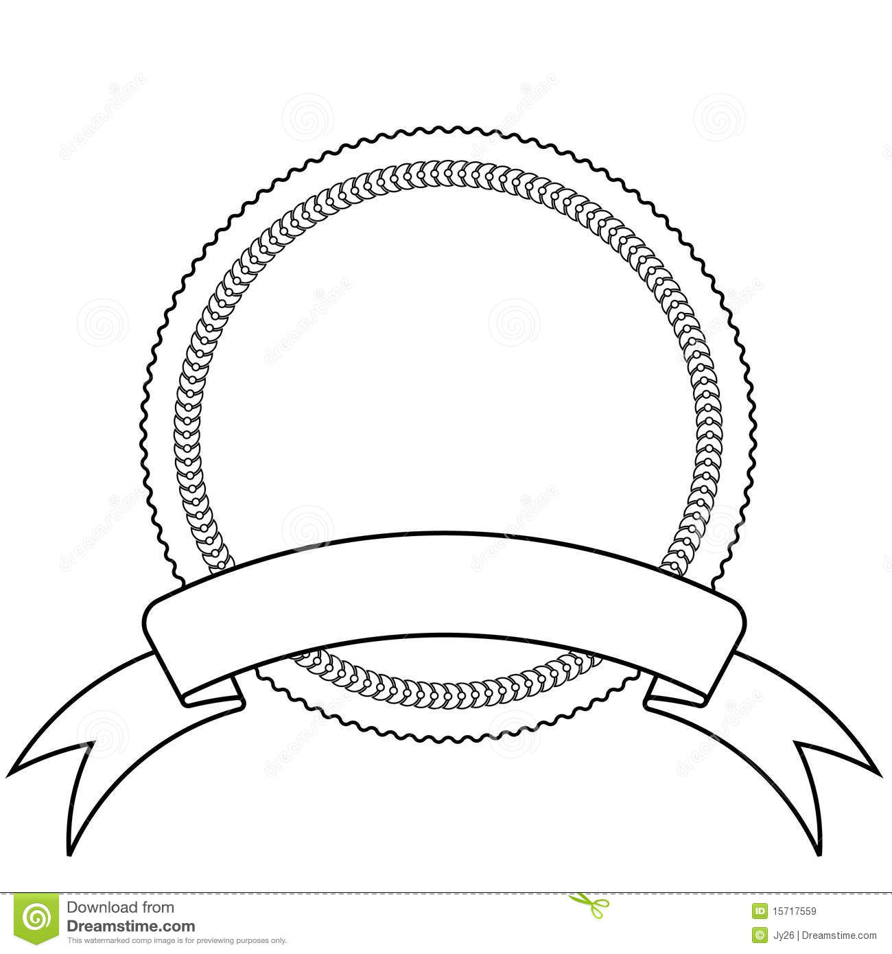 Emblem And Banner Template Stock Vector Illustration Of