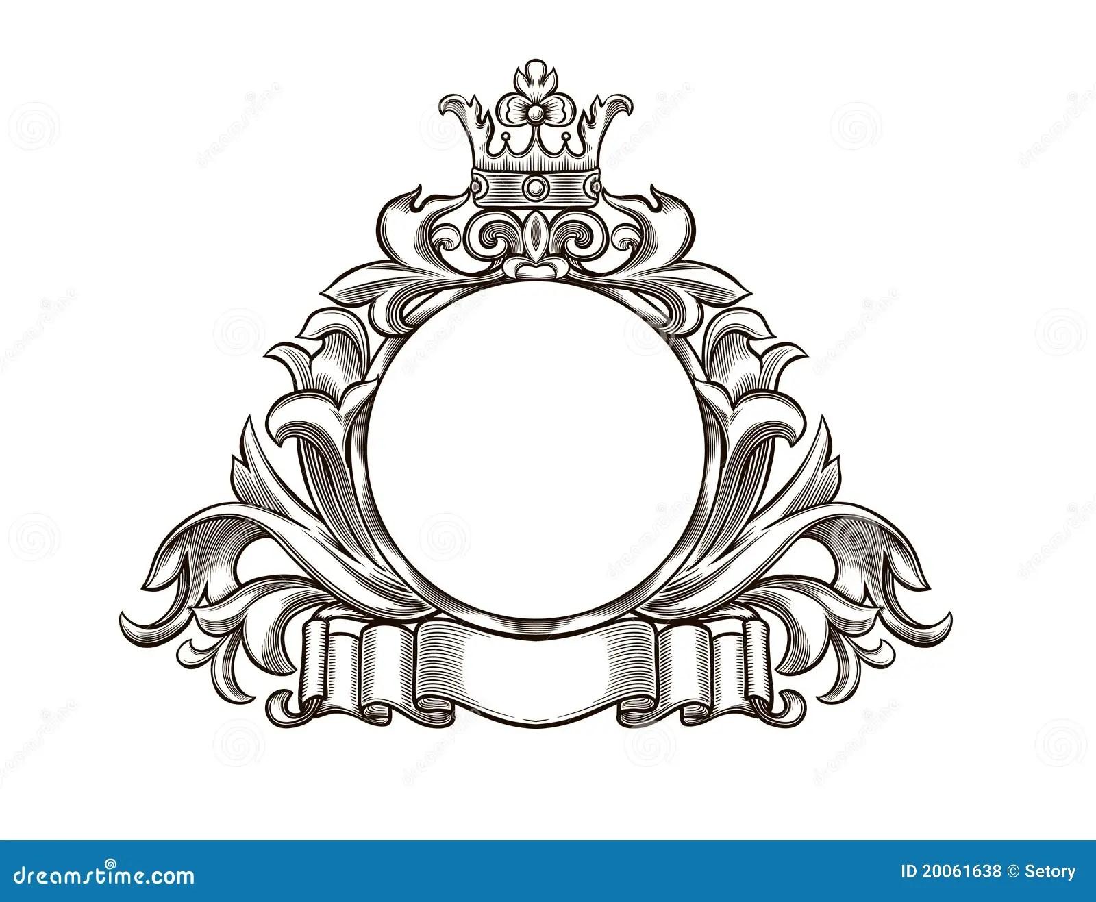 Emblema Preto E Branco Ilustracao Do Vetor Ilustracao De