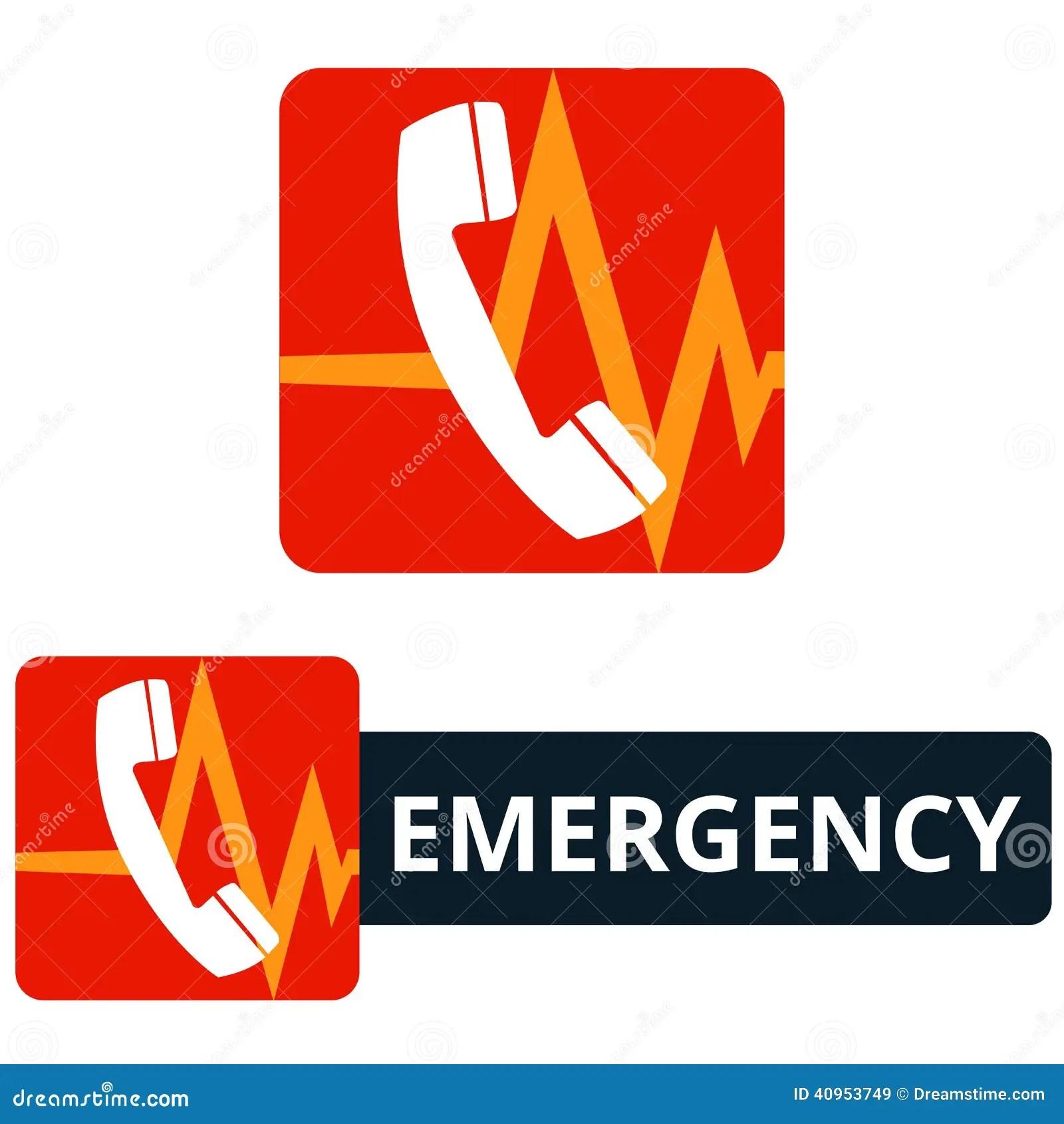 Emergency Call Icon Stock Vector