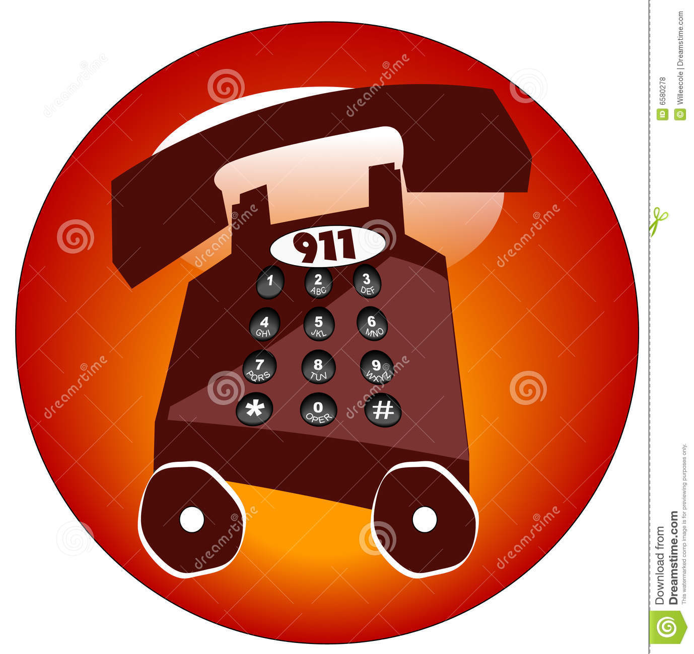 Emergency Phone Icon Royalty Free Stock Photos