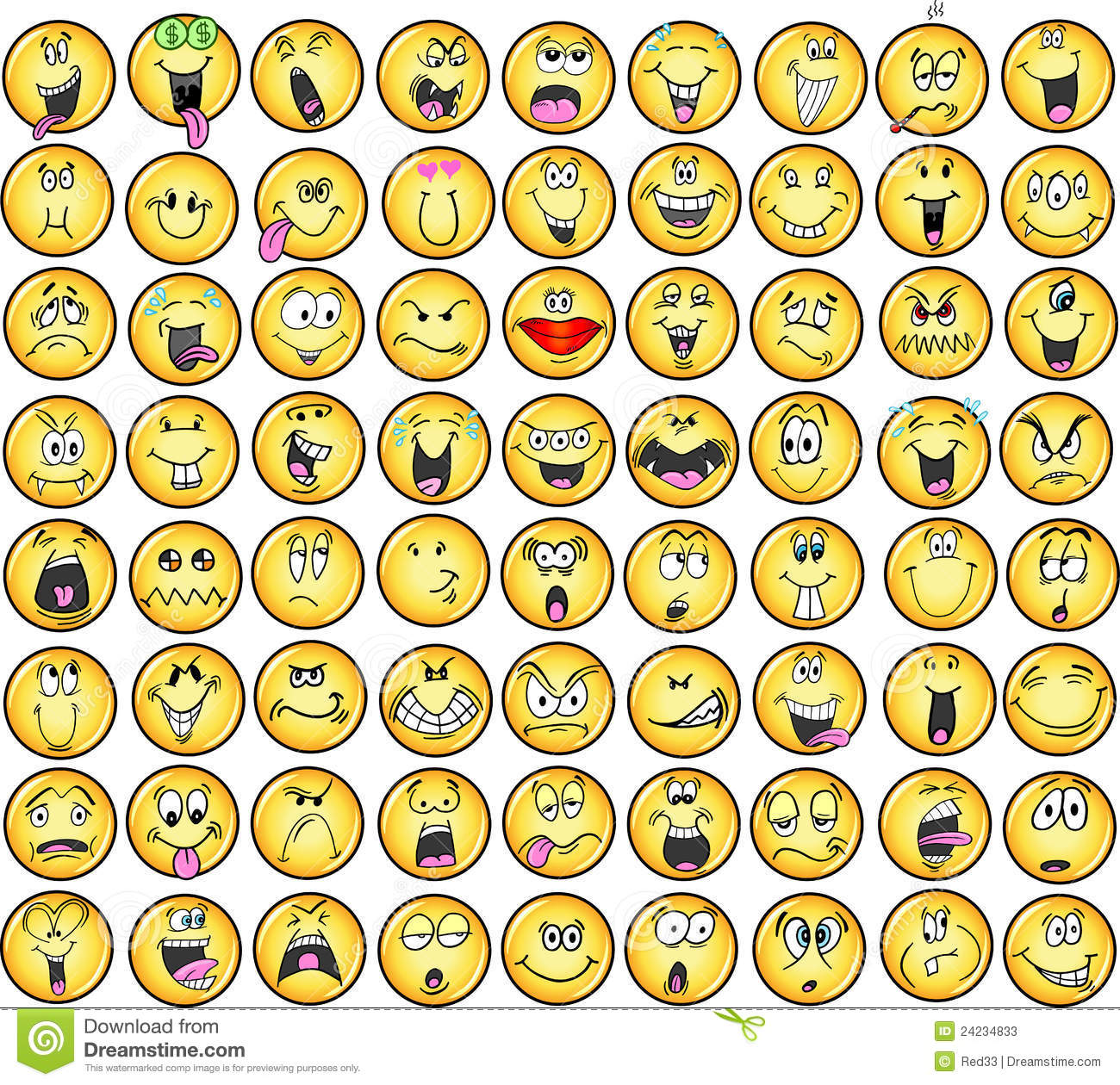 Emoticons Emotion Vector Icons Stock Vector