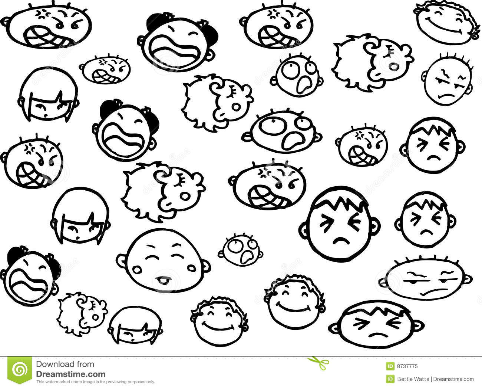 Emotions Stock Illustration Illustration Of Happy