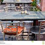 Empty Asian Restaurant Space With Table And Chairs Stock