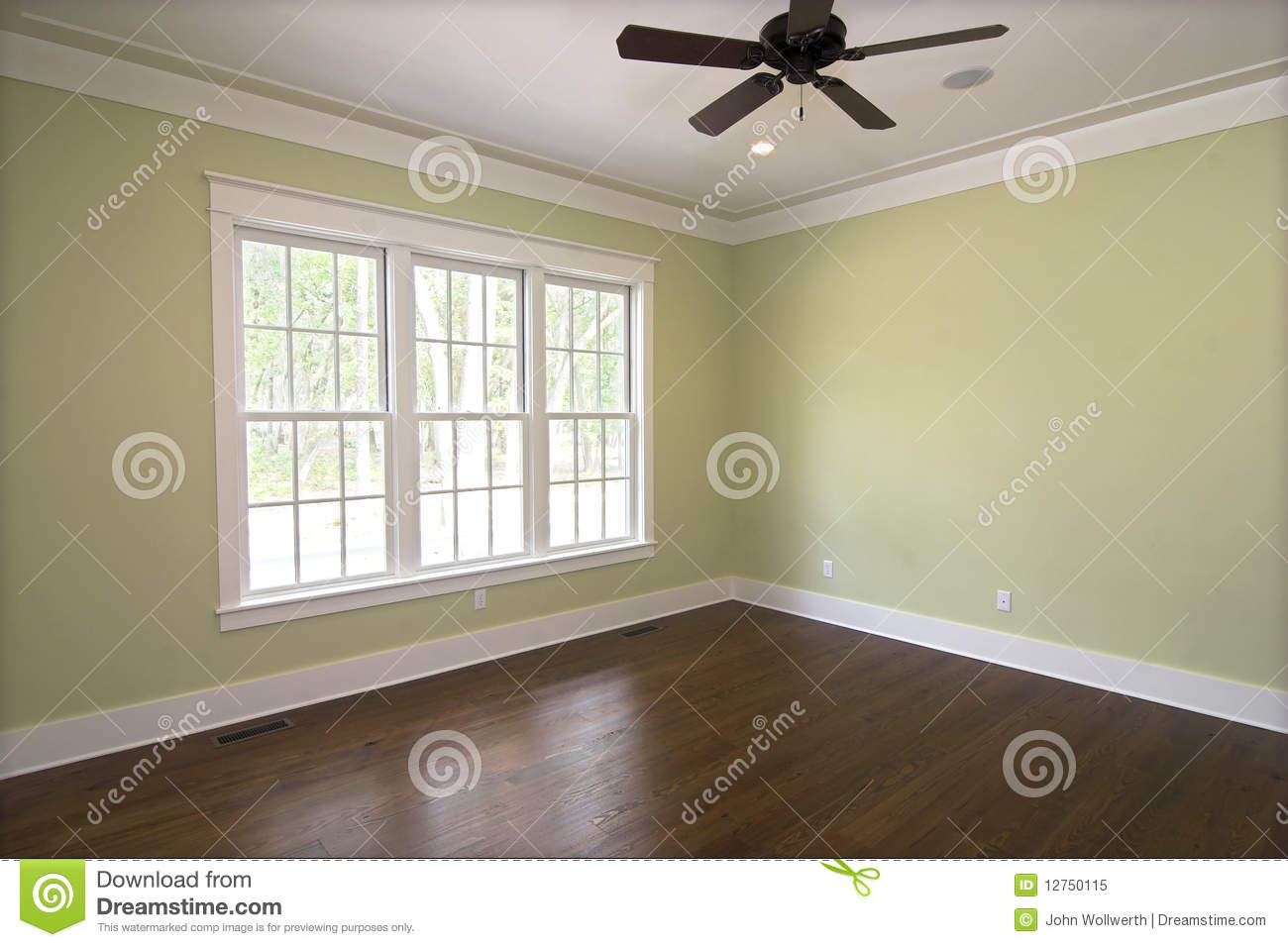 Empty Bedroom With Windows Royalty Free Stock Photo