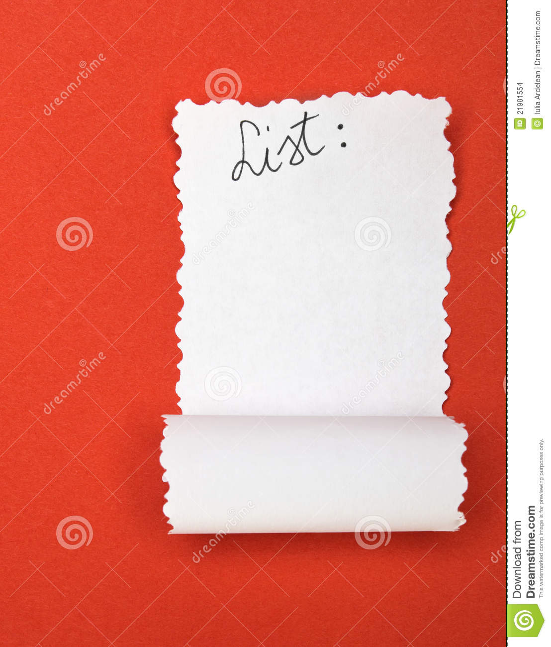 Empty List Stock Photo Image Of Symbol Ripped Page 21981554