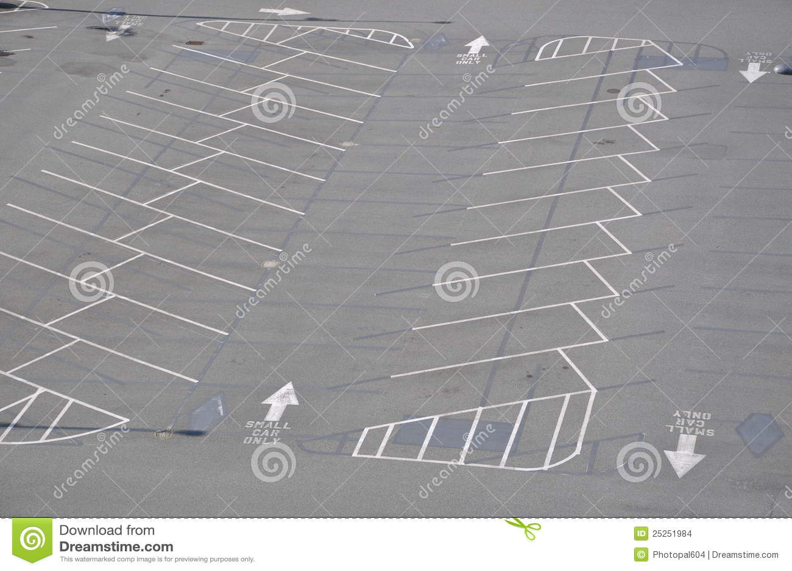 Empty Parking Lot Stock Photo Image Of Barren Cracks