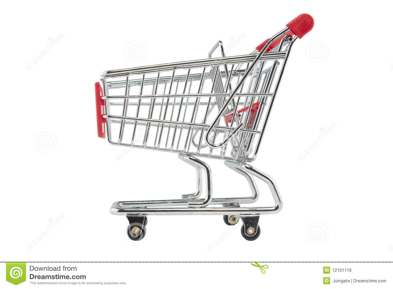 Empty Shopping Trolley Royalty Free Stock Image
