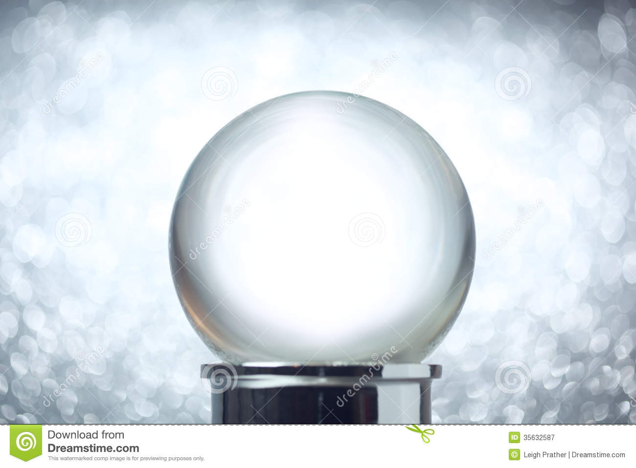 Empty Snow Globe Royalty Free Stock Photography Image