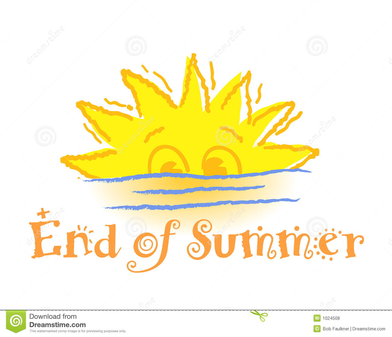 End Of Summer Royalty Free Stock Photos