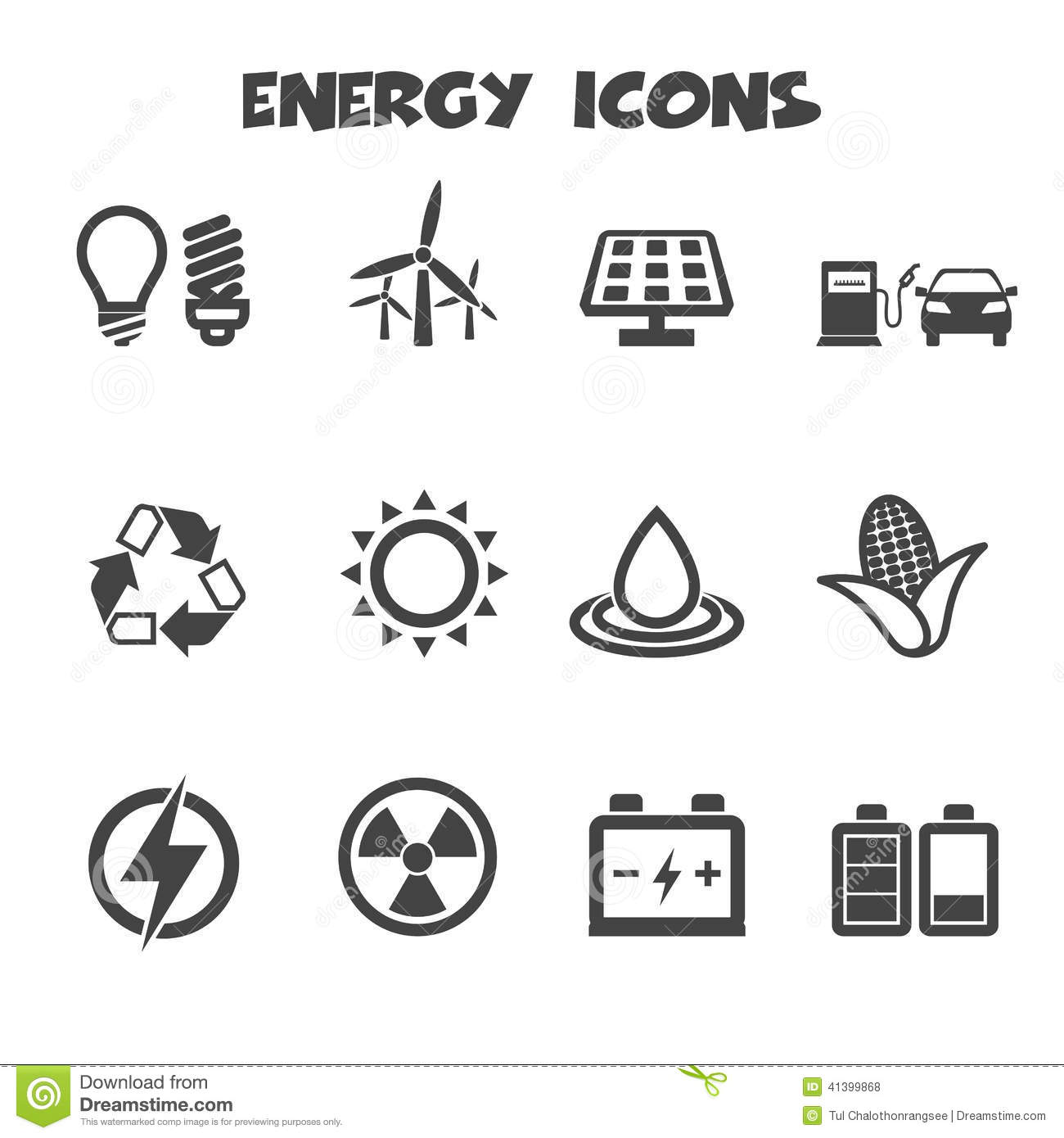 Energy Icons Stock Vector