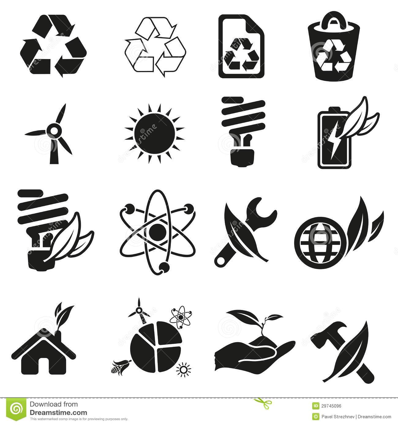 Energy And Resource Icon Set Stock Vector