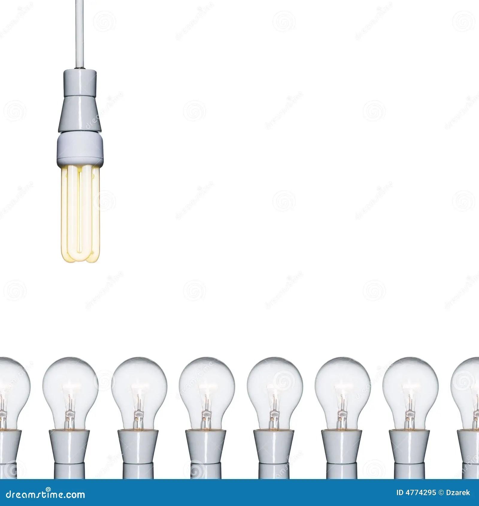 An Energy Saving Light Bulb Ag Stock Image