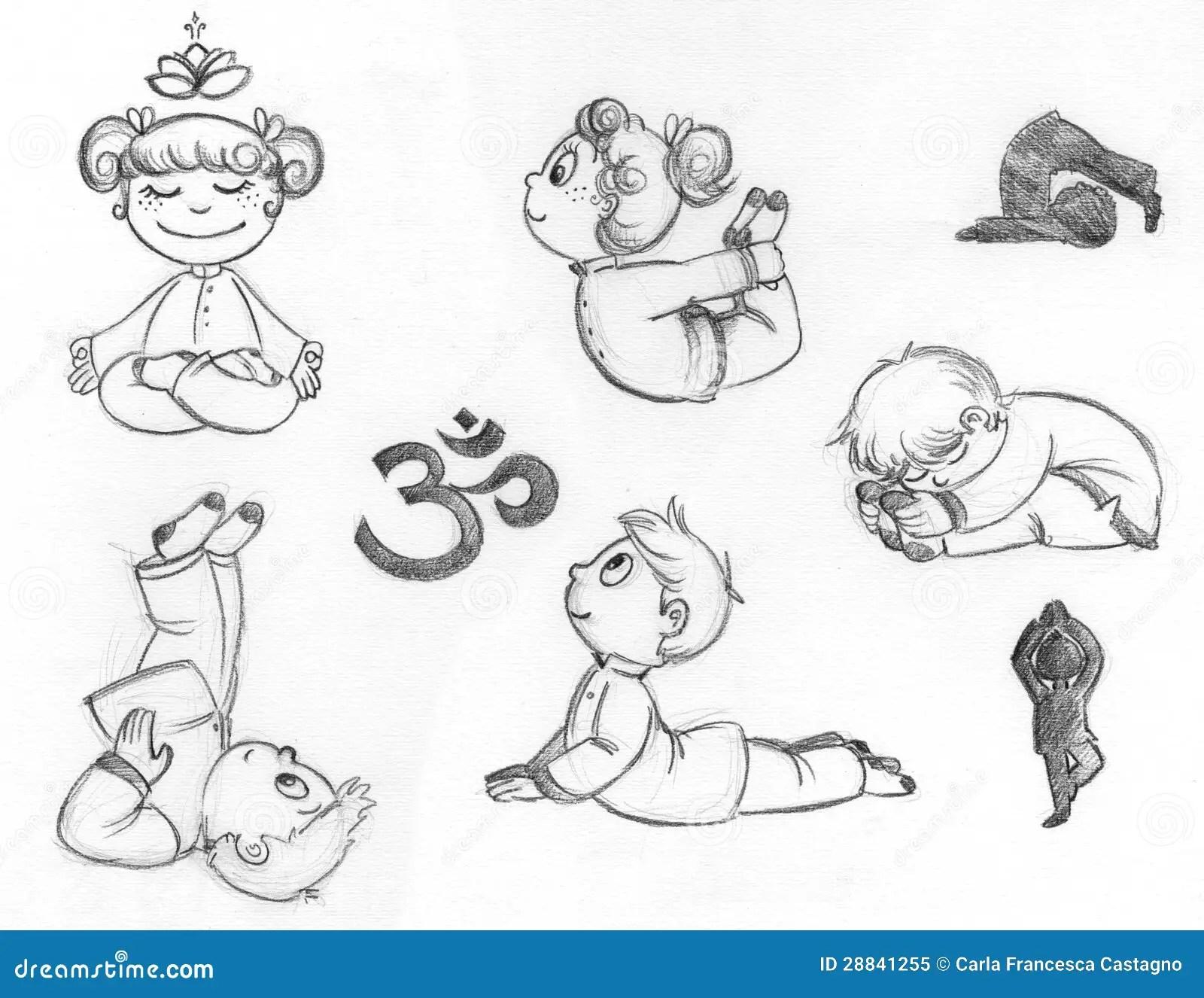 Enfants De Yoga Illustration Stock Illustration Du