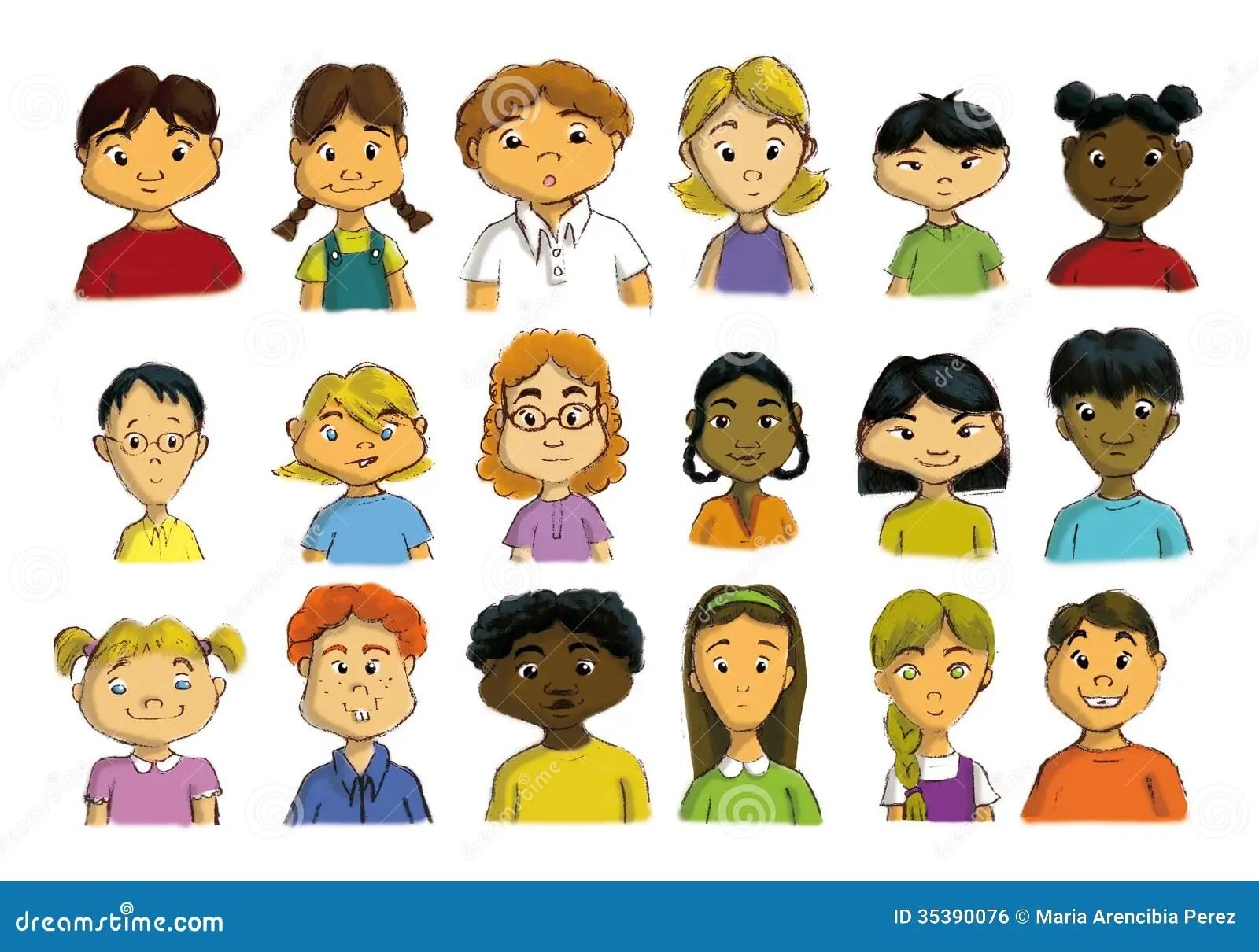 Enfants Multiculturels Illustration Stock Illustration Du