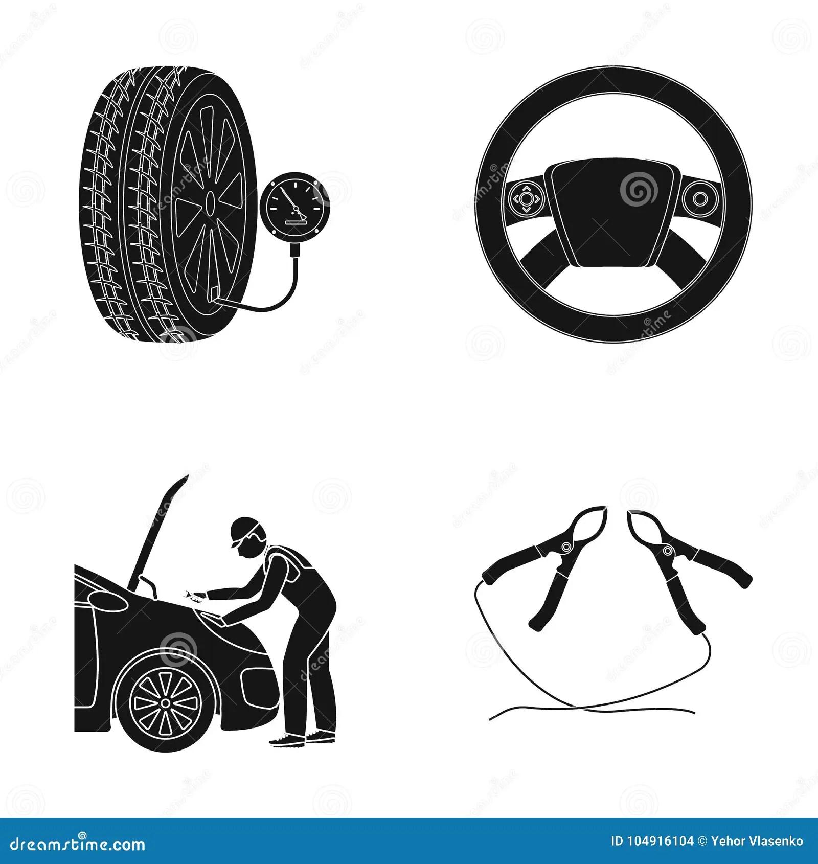 Engine Adjustment Steering Wheel Clamp And Wheel Black