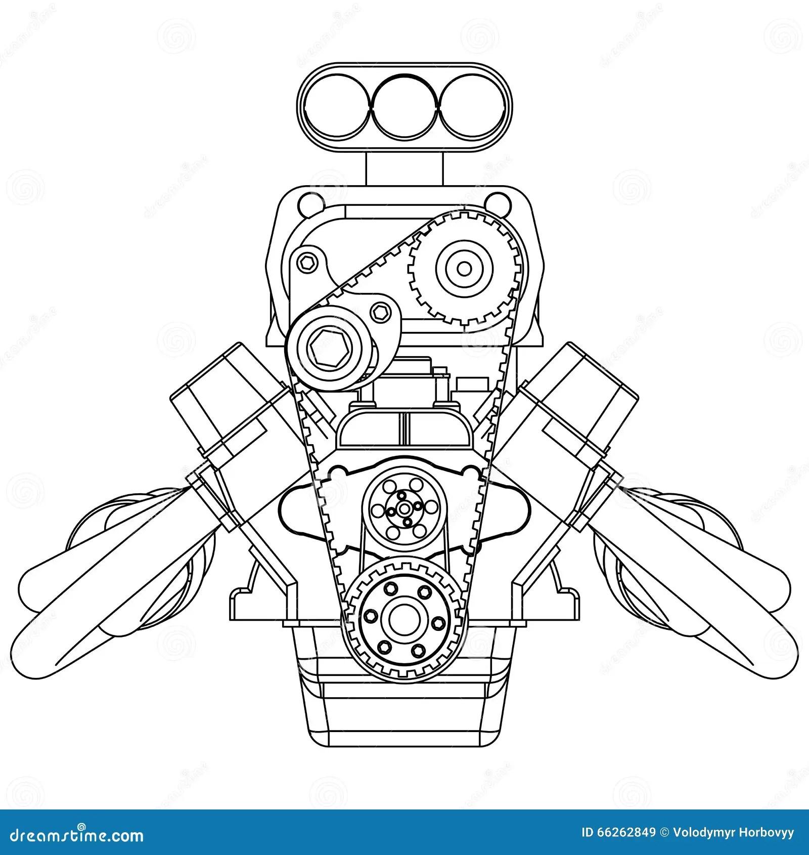 Engine De Rod Chaud Illustration De Vecteur Illustration