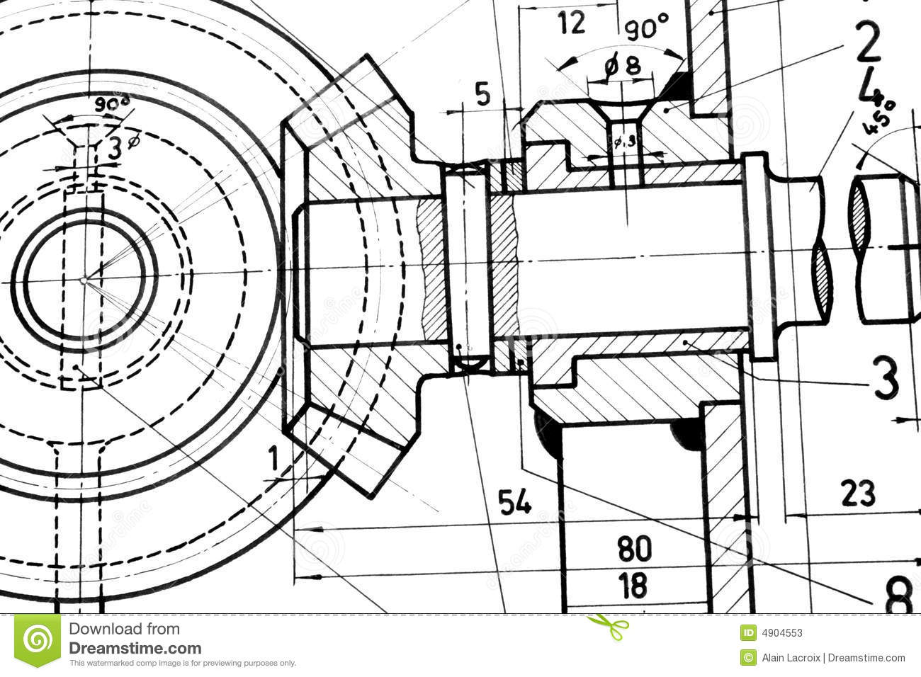 Engineering Blueprint Stock Image Image Of Applied