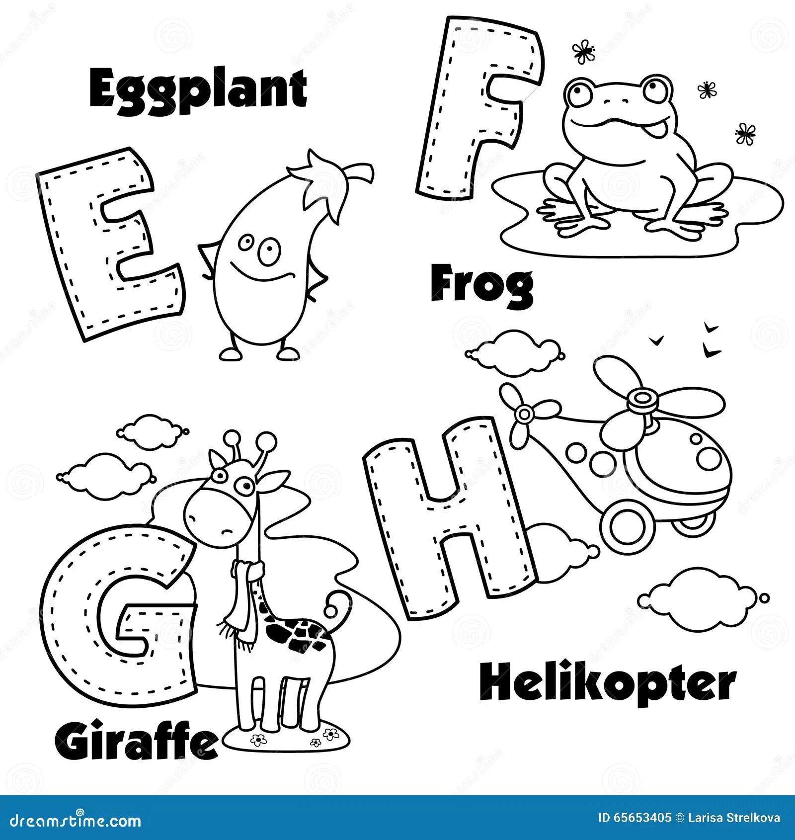 Englisches Alphabet Und Buchstaben E F G Und H