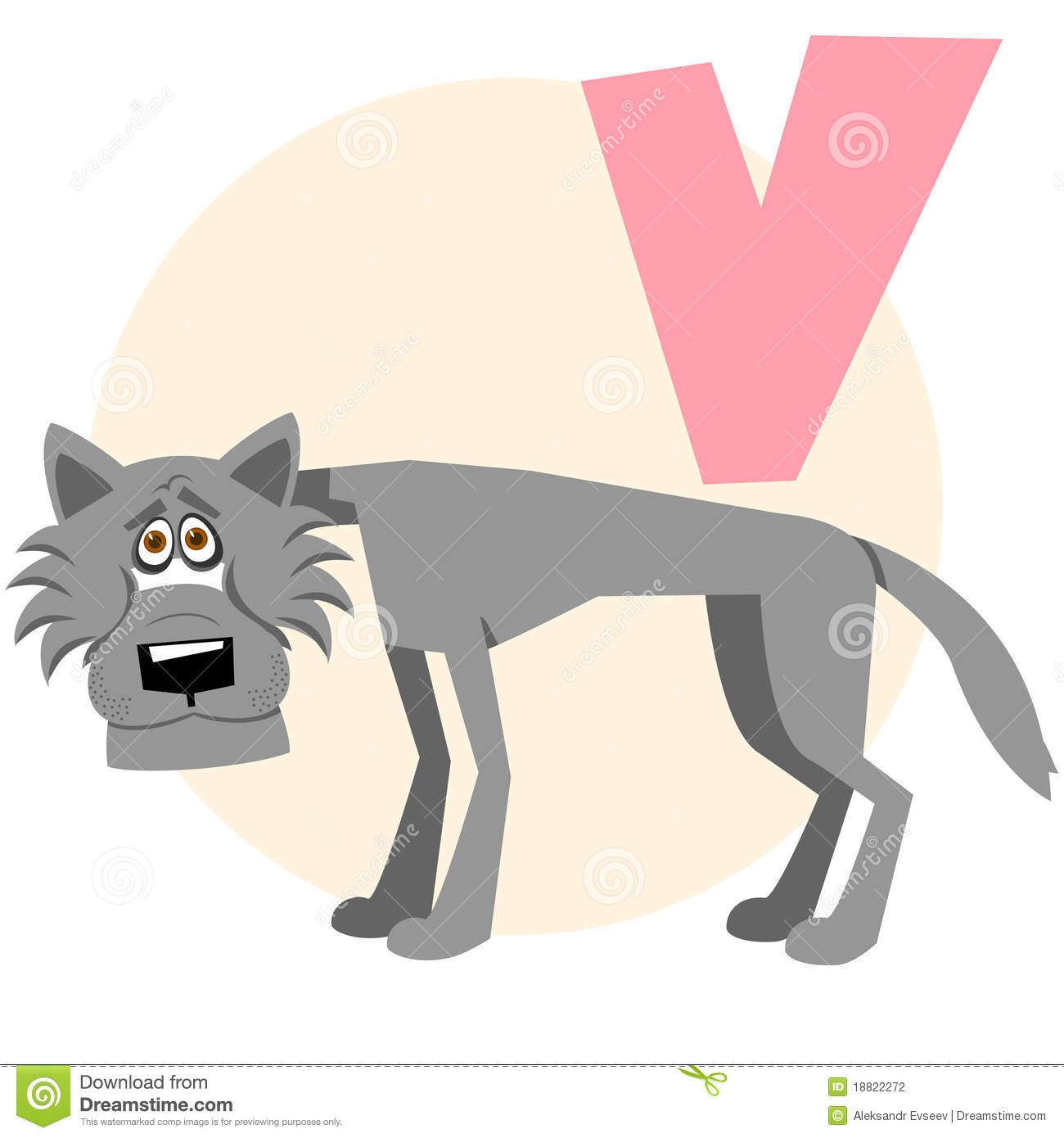 The English Alphabet Wolf Stock Vector Illustration Of