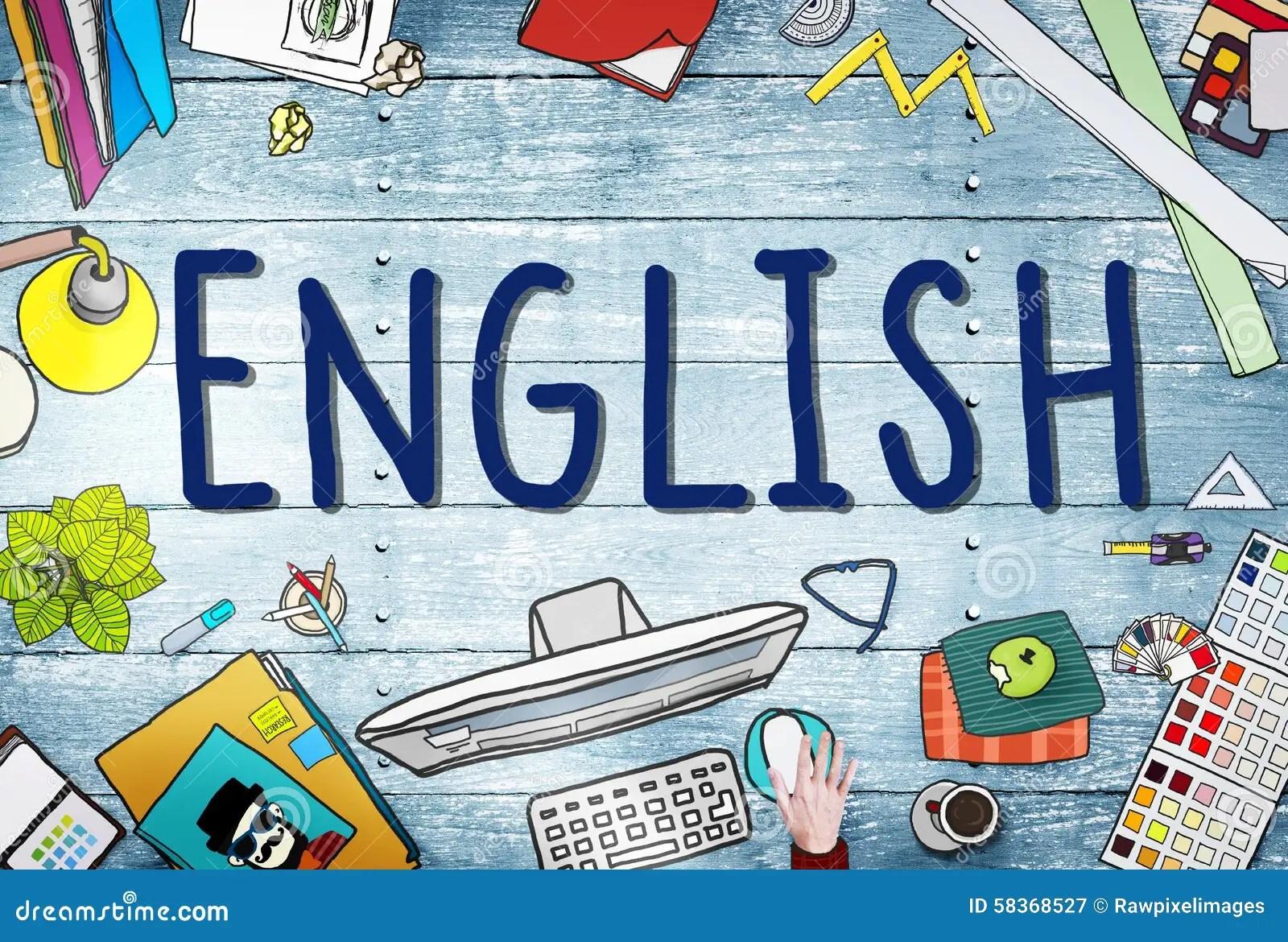 English British England Language Education Concept Stock