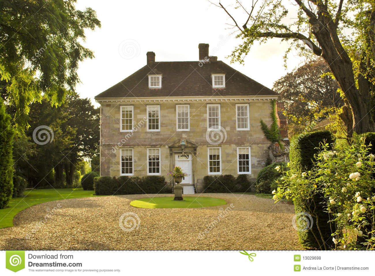 English Country House Stock Photo. Image Of Country, Upper