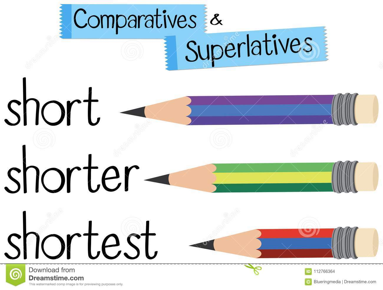 English Grammar For Comparative And Superlative With Word