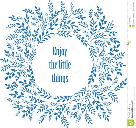 Enjoy The Little Things Typography Poster Stock Vector ...