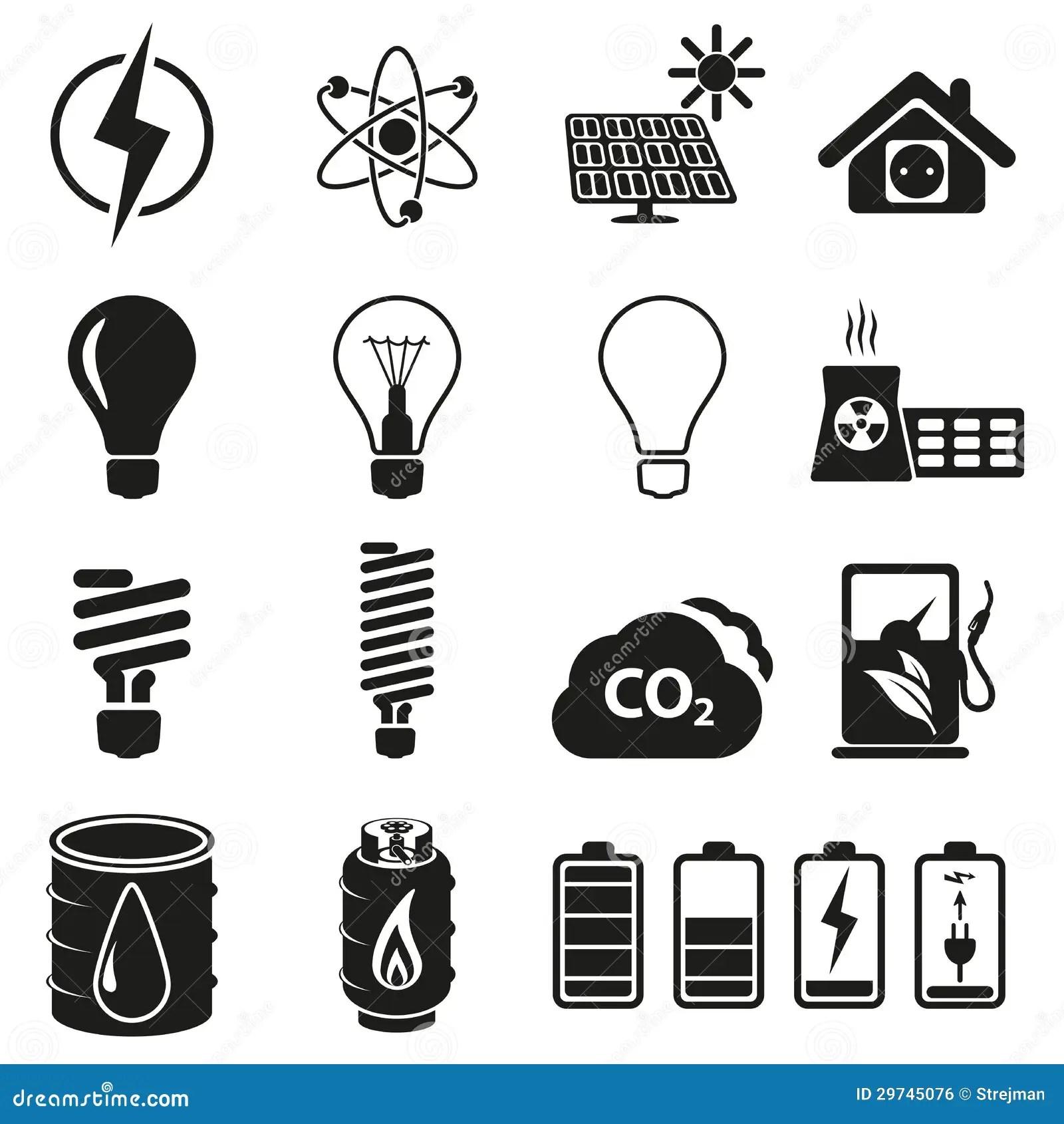 Ensemble D Energie Et D Icone De Ressource Illustration De