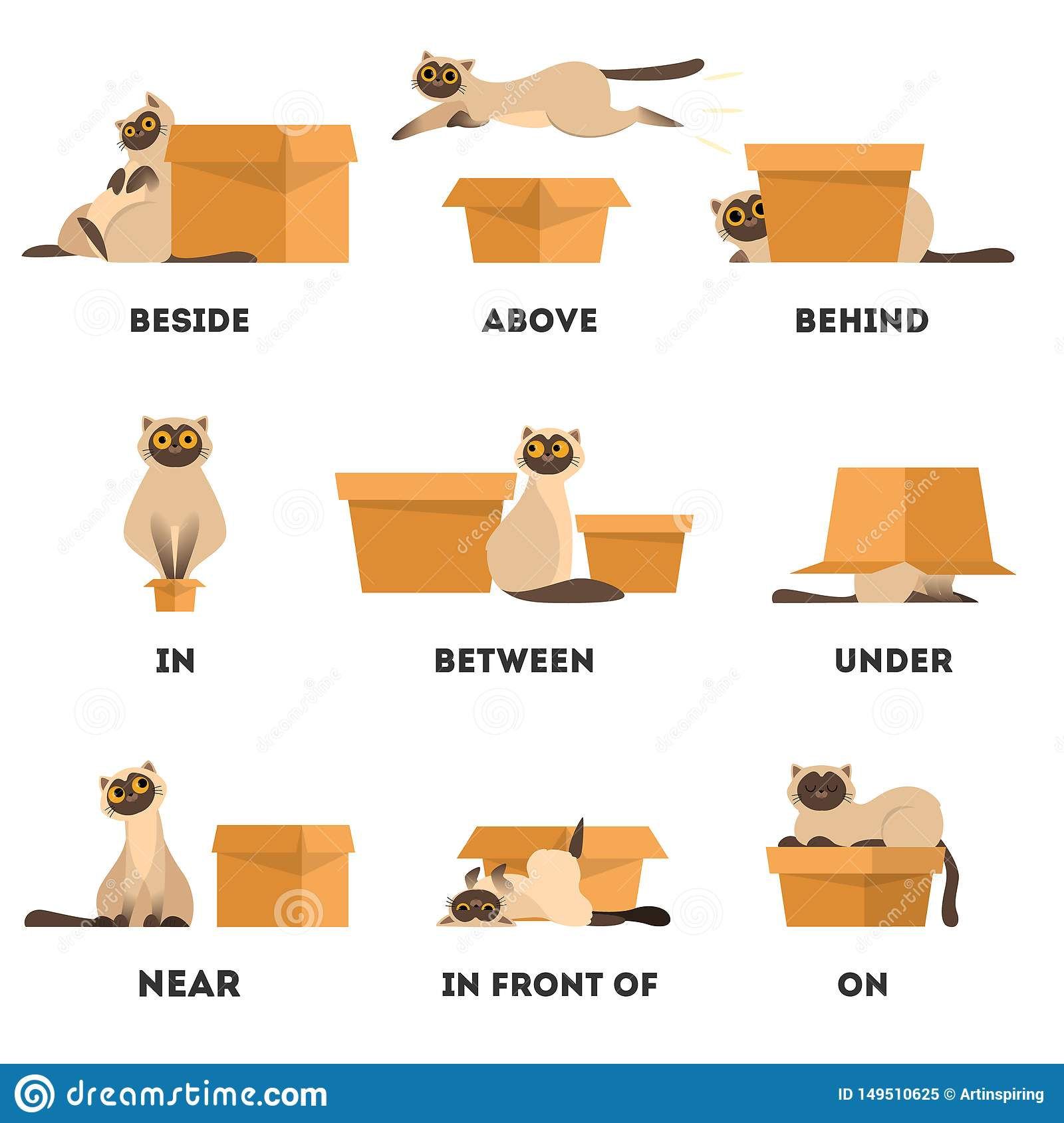 Preposition Stock Illustrations Vecteurs Amp Clipart