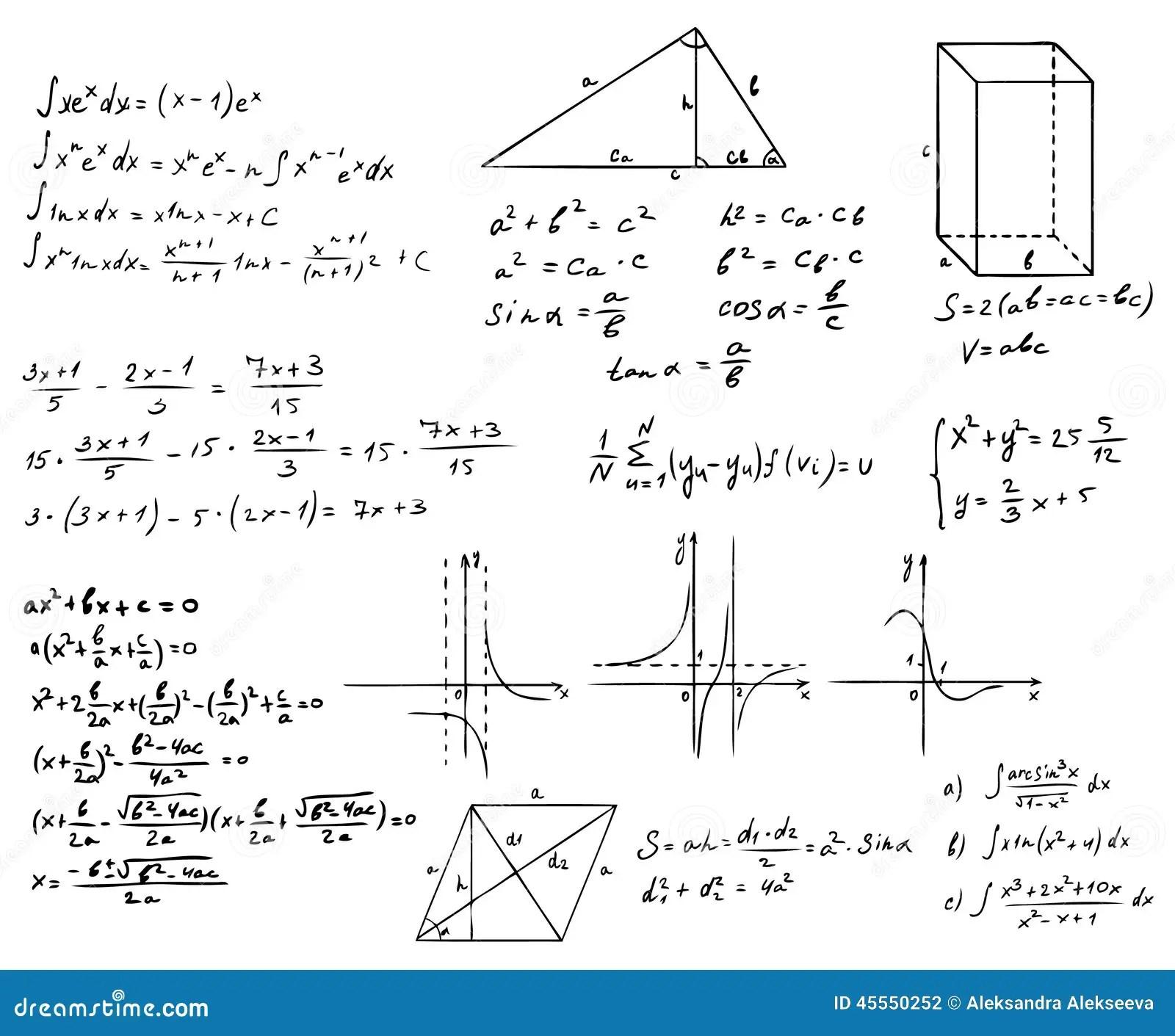 Ensemble De Mathematiques Et De Geometrie Illustration De