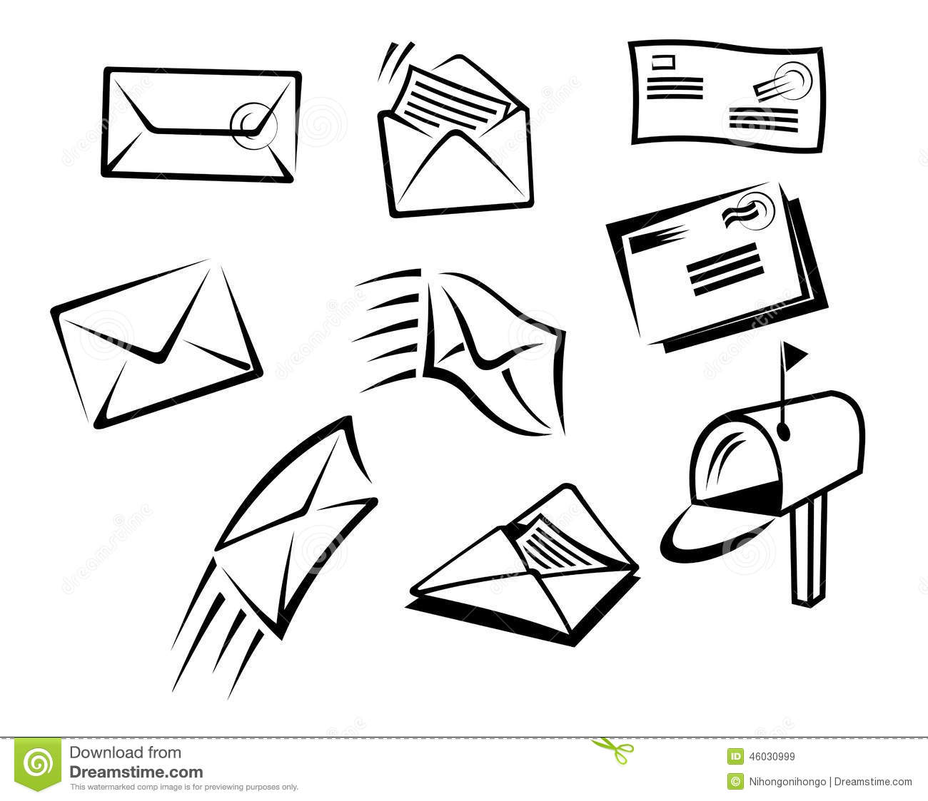 Envelopes And Mail Symbols Stock Vector