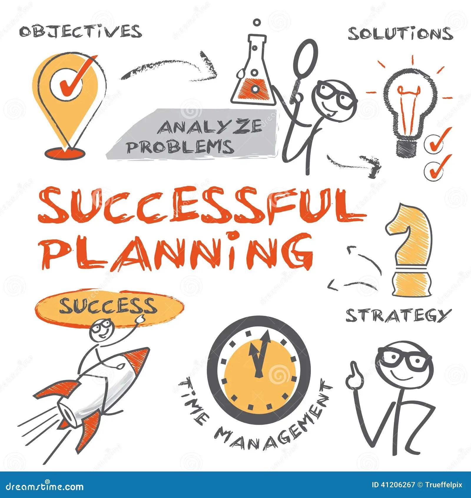 Erfolgreiche Planung Stock Abbildung Illustration Von