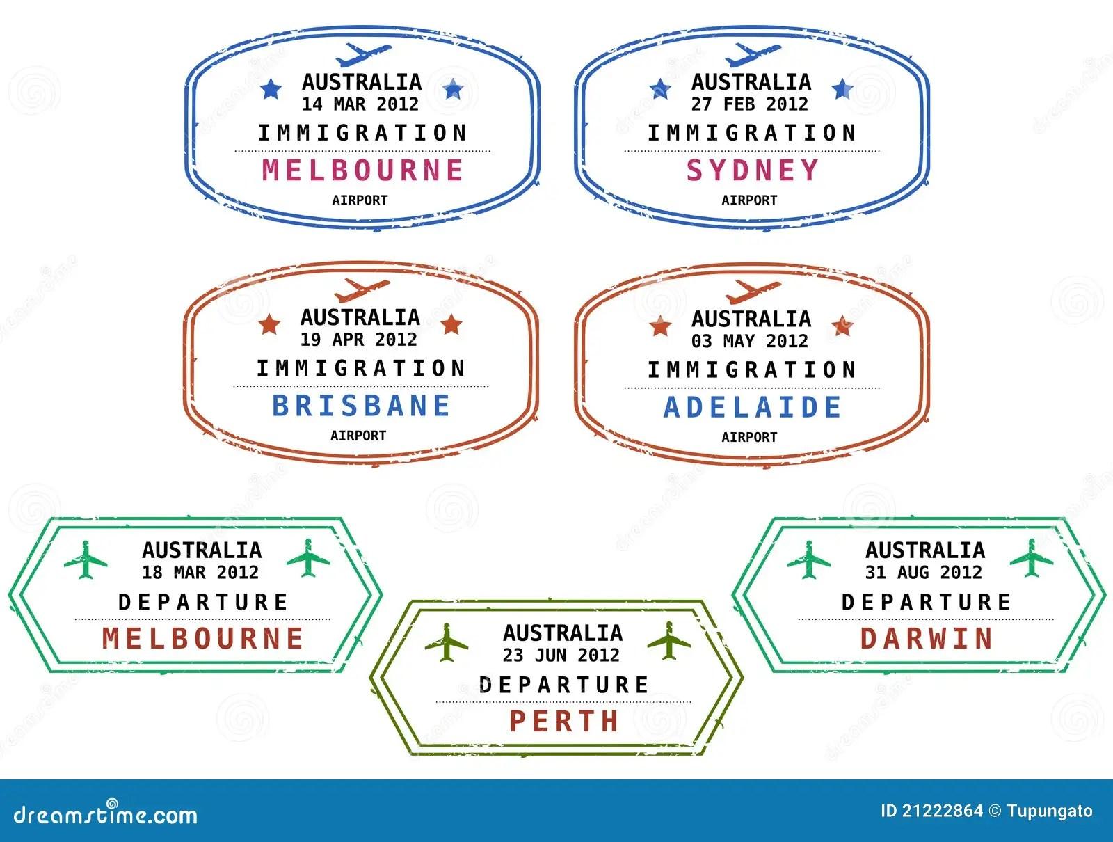estampilles d immigration australie