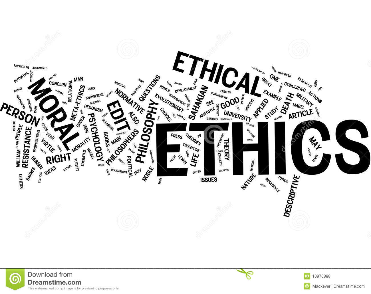 Ethics Word Cloud Stock Illustration Illustration Of Code