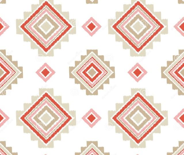 Ethnic Boho Seamless Pattern Embroidery On Fabric Retro Motif
