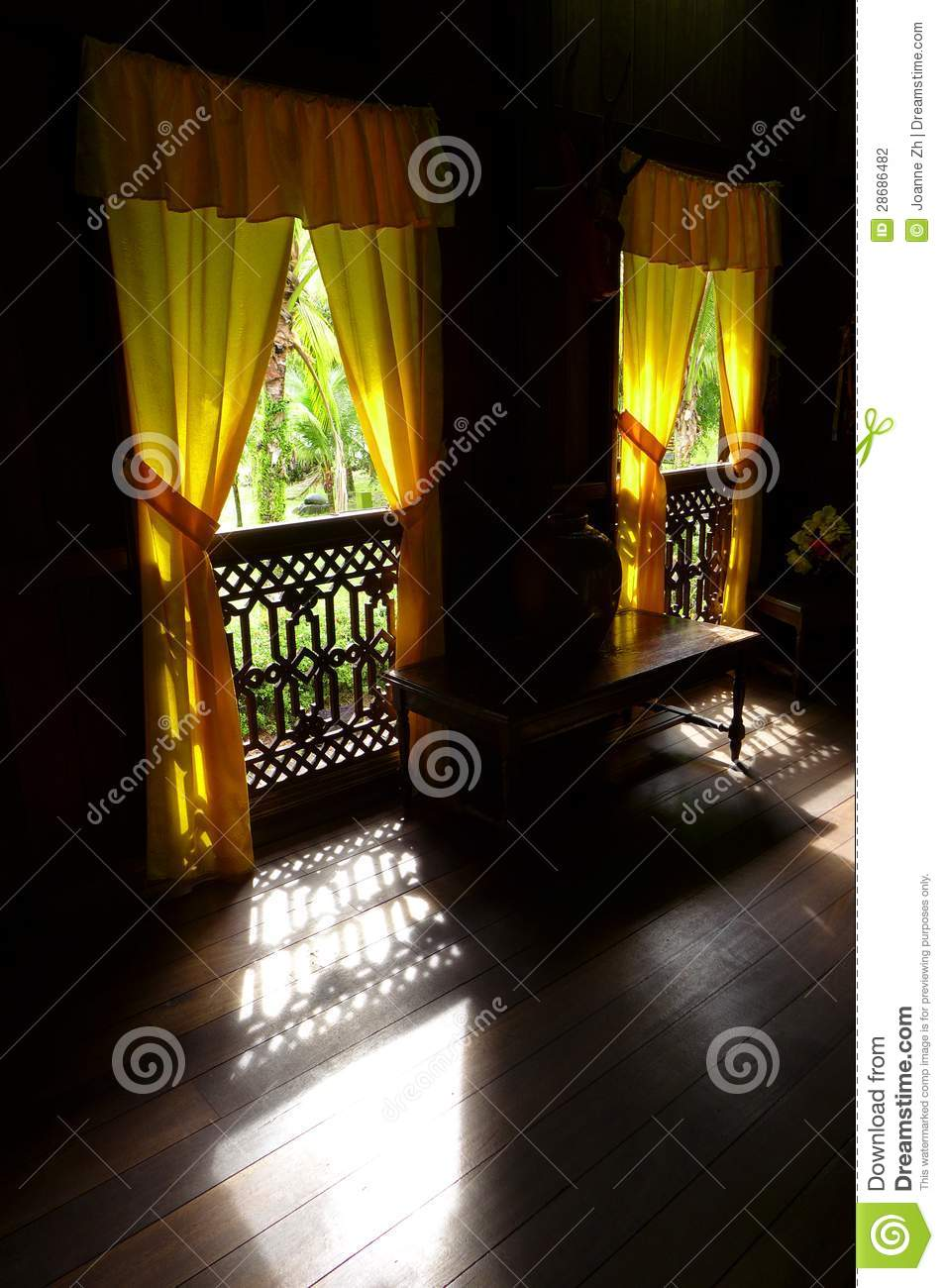 Ethnic Interior Old Malay House Traditional Stock Photo Image Of Empty Houses 28686482