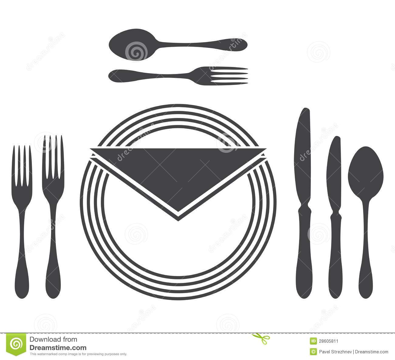 Etiquette Proper Table Setting Stock Vector