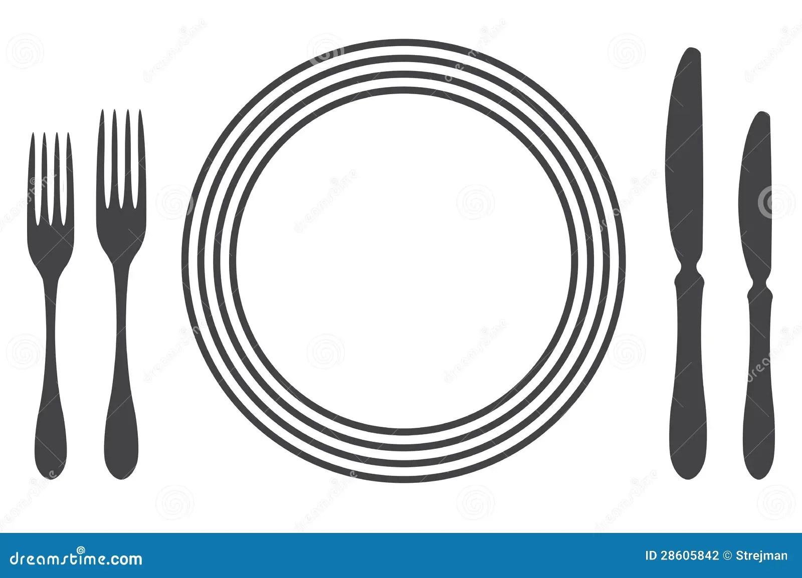 Etiquette Proper Table Setting Stock Vector