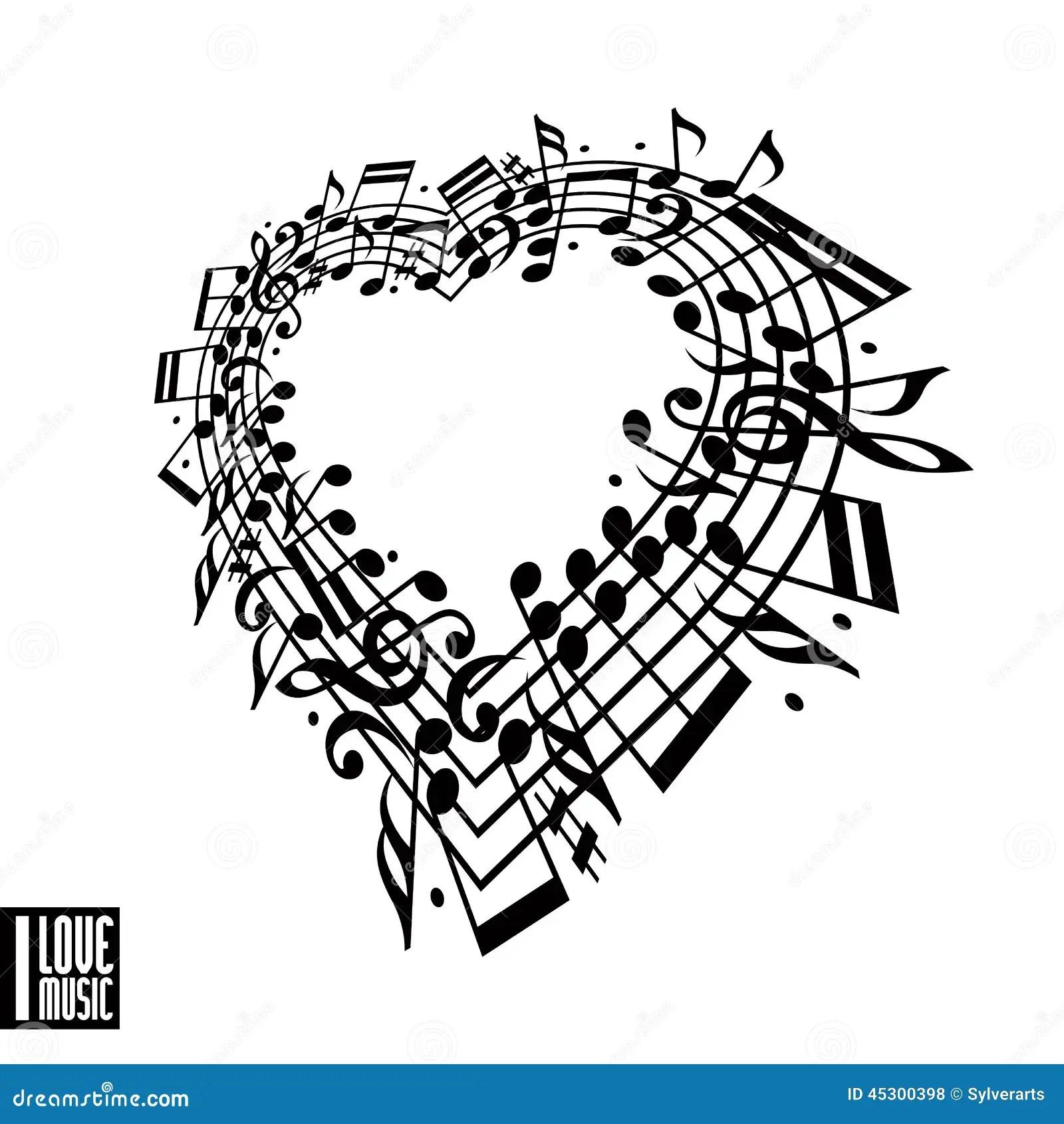 Eu Amo O Conceito Da Musica Coracao Feito Com Notas