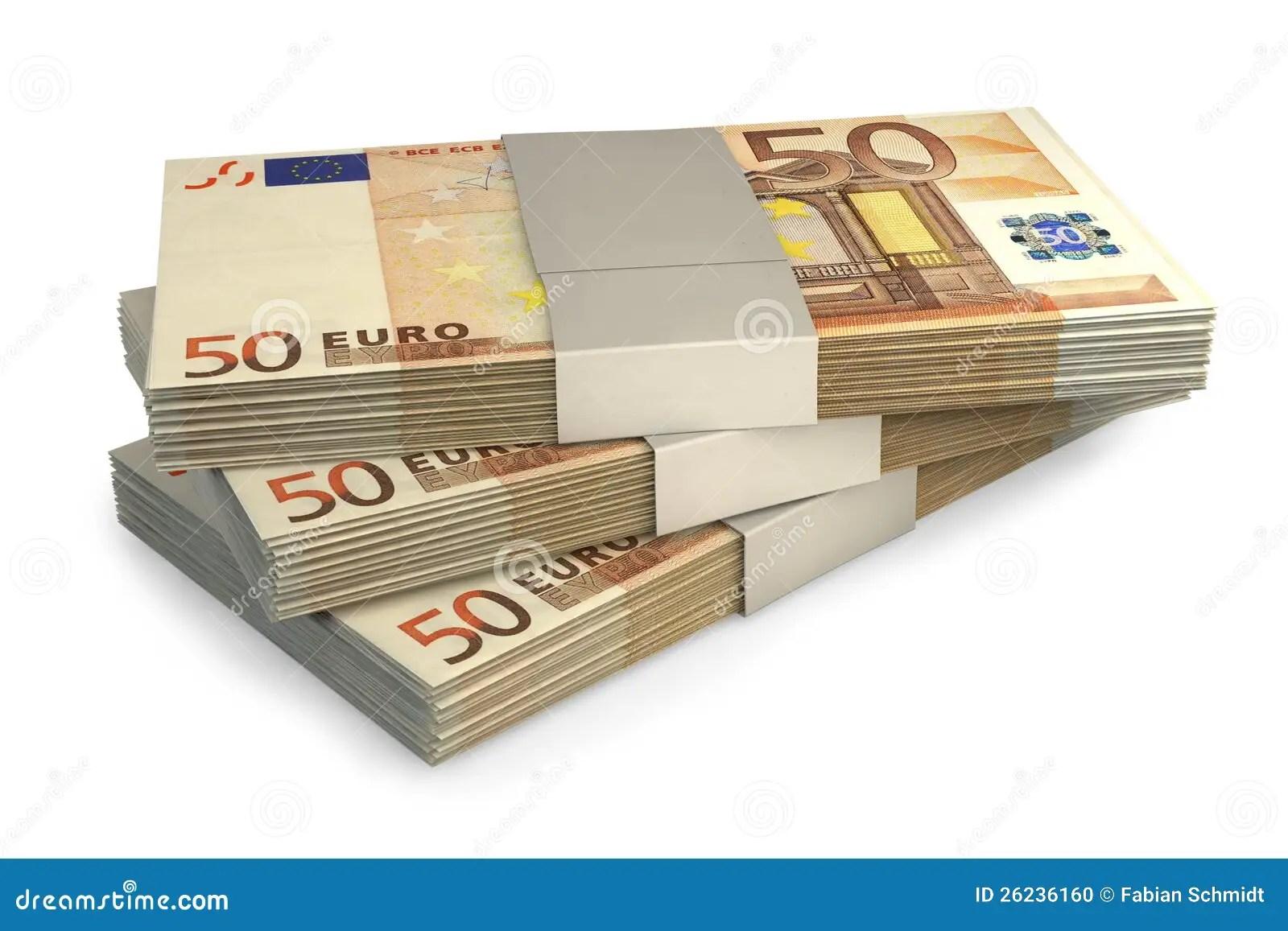 Euro Money Notes Stock Photo