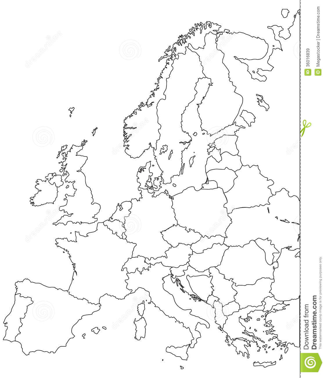 Europe Vector Map Stock Vector Illustration Of Country