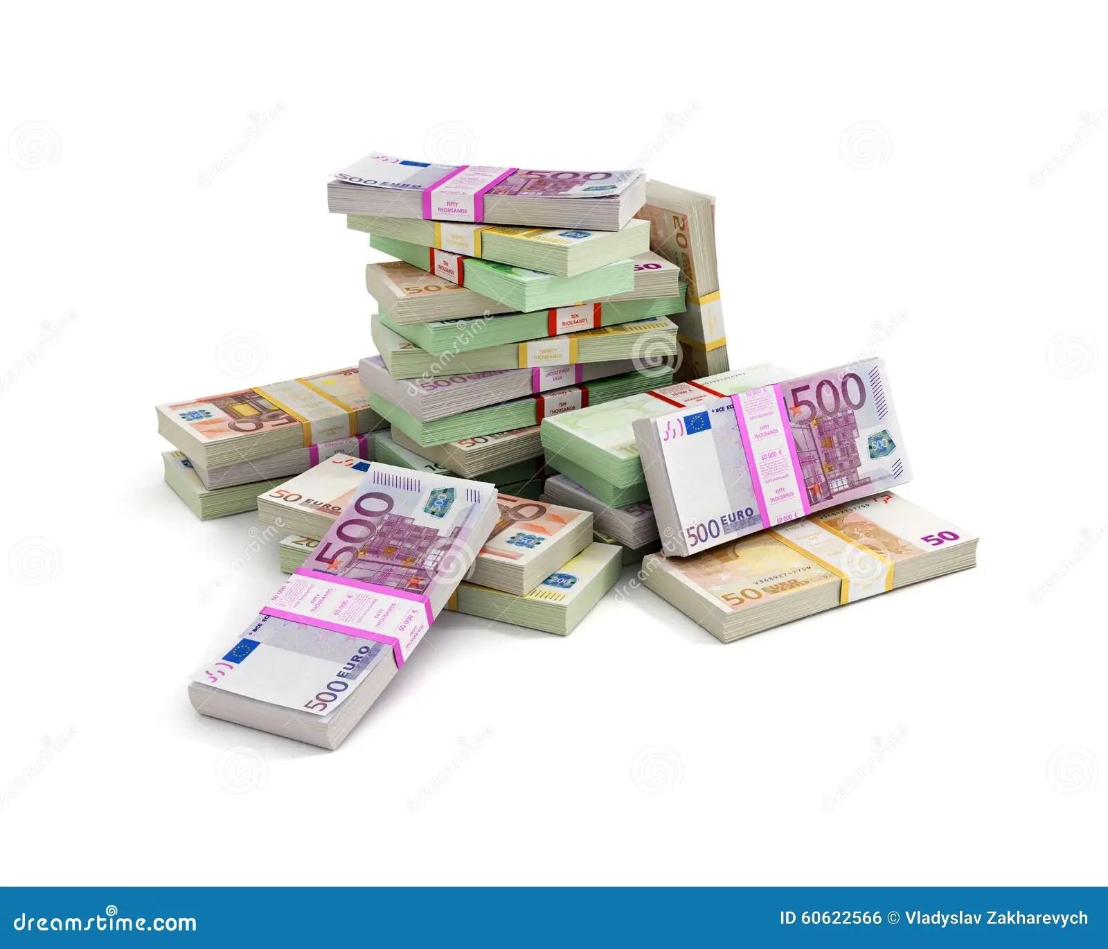Euros Money Stack Stock Photo Image Of Payment European